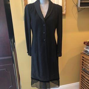 Stunning St. John Evening sz 6 Coat dress NWT